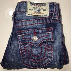 True Religion boys signature acid wash jeans sz 7